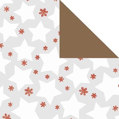 Geschenkpapier Weihnachten Decoro perl-weiß 99853