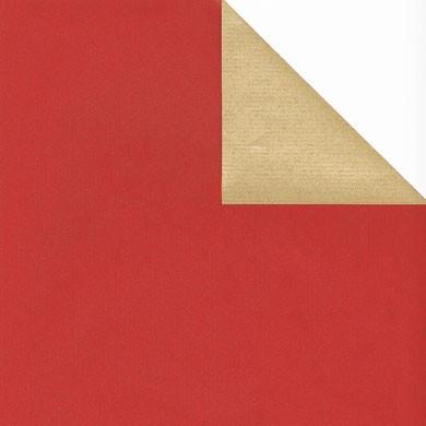 Geschenkpapier Vollton - zweiseitig bedruckt (braun enggerippt)