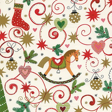 Gift wrap christmas Rapperswil ivory 49266
