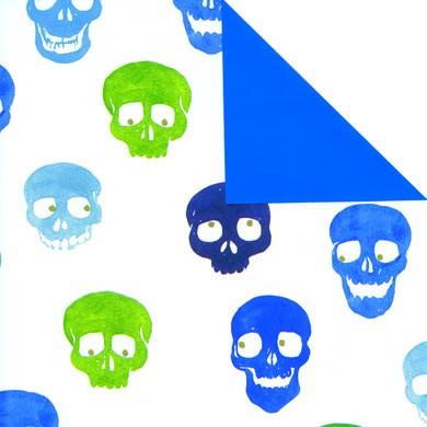 Geschenkpapier Skully/Vollton blau 60304