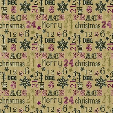 Geschenkpapier Weihnachten Krems natur 39903
