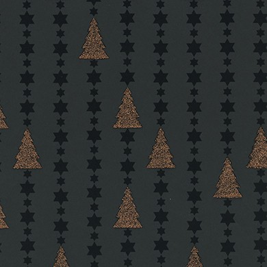 Geschenkpapier Weihnachten Collana schwarz 99892