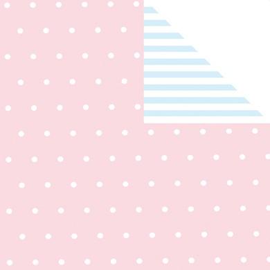 Geschenkpapier BEBE rosa-hellblau 60333