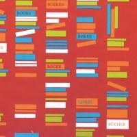 Geschenkpapier Books rot 40139