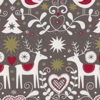 Geschenkpapier Weihnachten Halling taupe 59192
