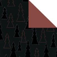 Geschenkpapier Weihnachten Bernau schwarz 79824