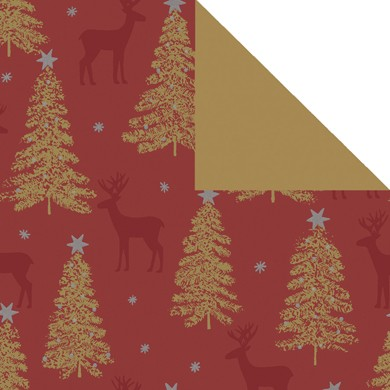 Gift wrap christmas Lenggries red 79818