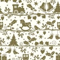 Geschenkpapier Weihnachten Imst gold 49301